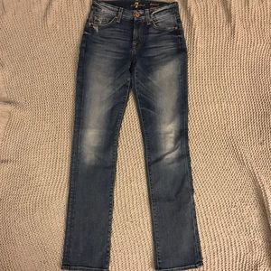 7 For All Mankind Kimmie Straight Jeans - Size 24